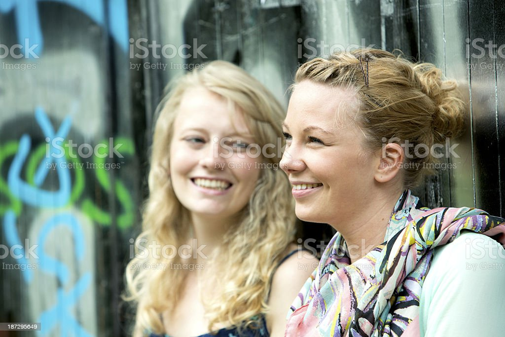 Best friends talking royalty-free stock photo