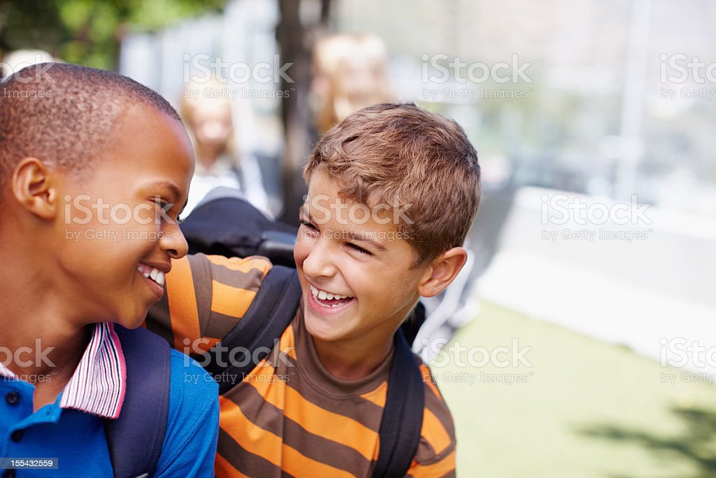Best friends today - Business partners tomorrow royalty-free stock photo