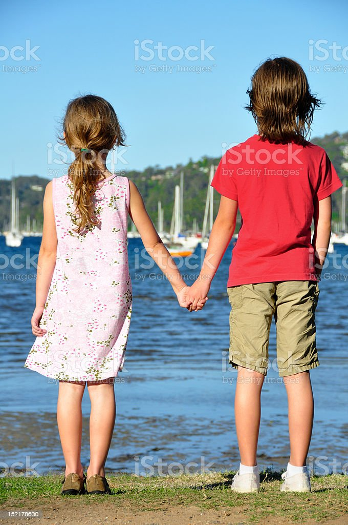 Best friends waiting royalty-free stock photo