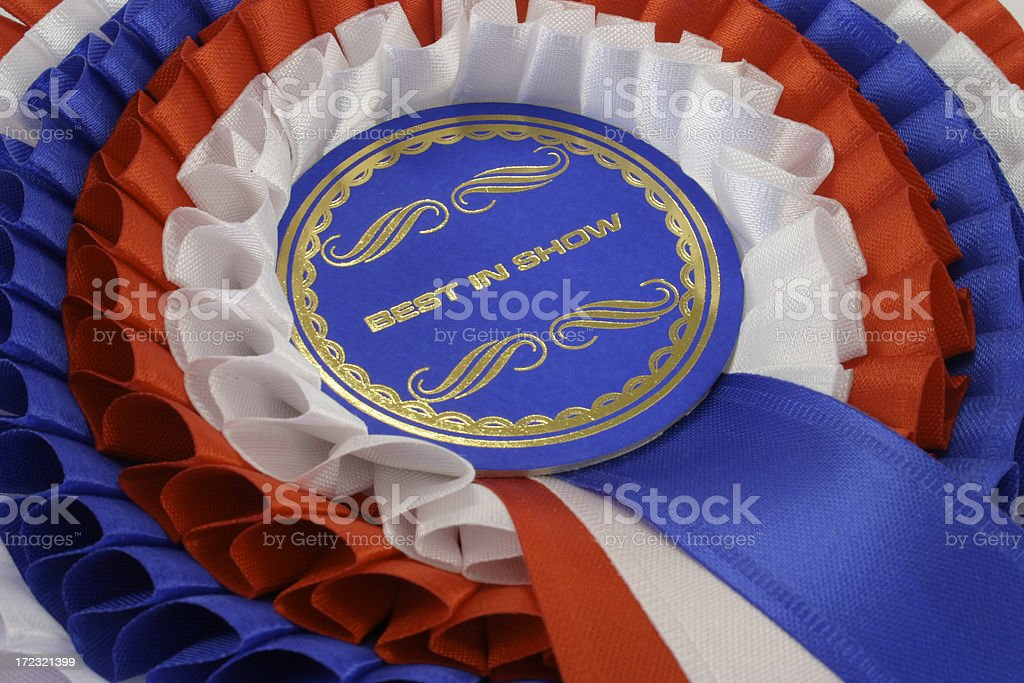 Best in Show Rosette royalty-free stock photo