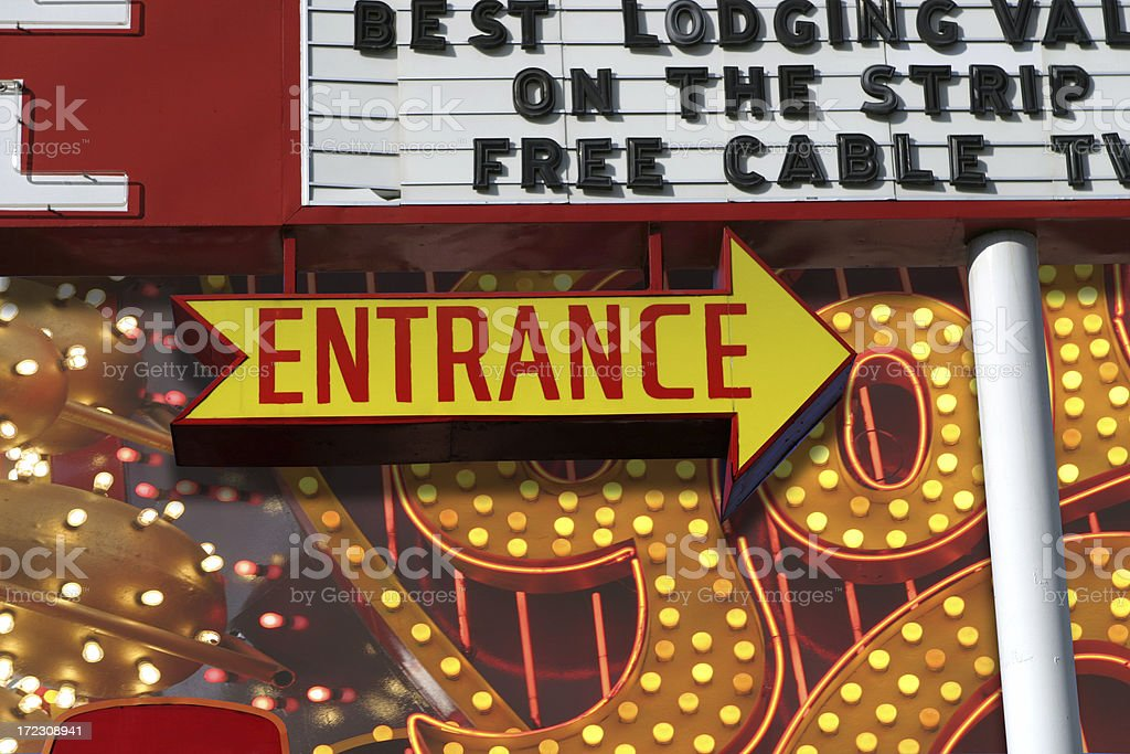 Best Lodging On The Strip royalty-free stock photo