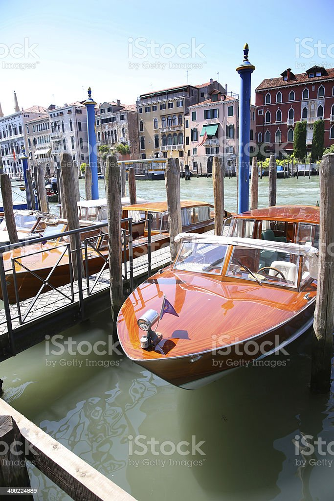 Best means of transport on Canal grande in Venice royalty-free stock photo