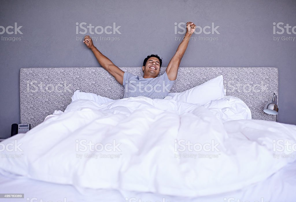 Best night's sleep ever! stock photo
