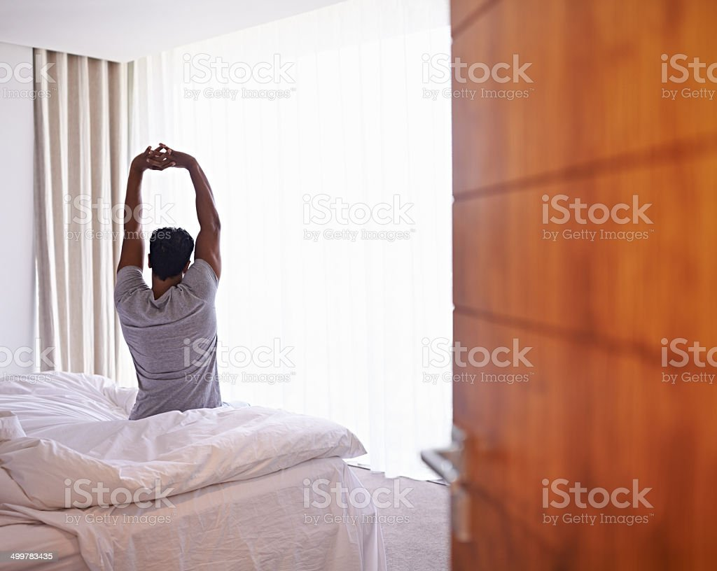 Best night's sleep ever! stock photo