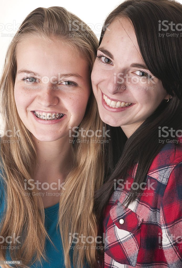 Best of Friends Smiling royalty-free stock photo