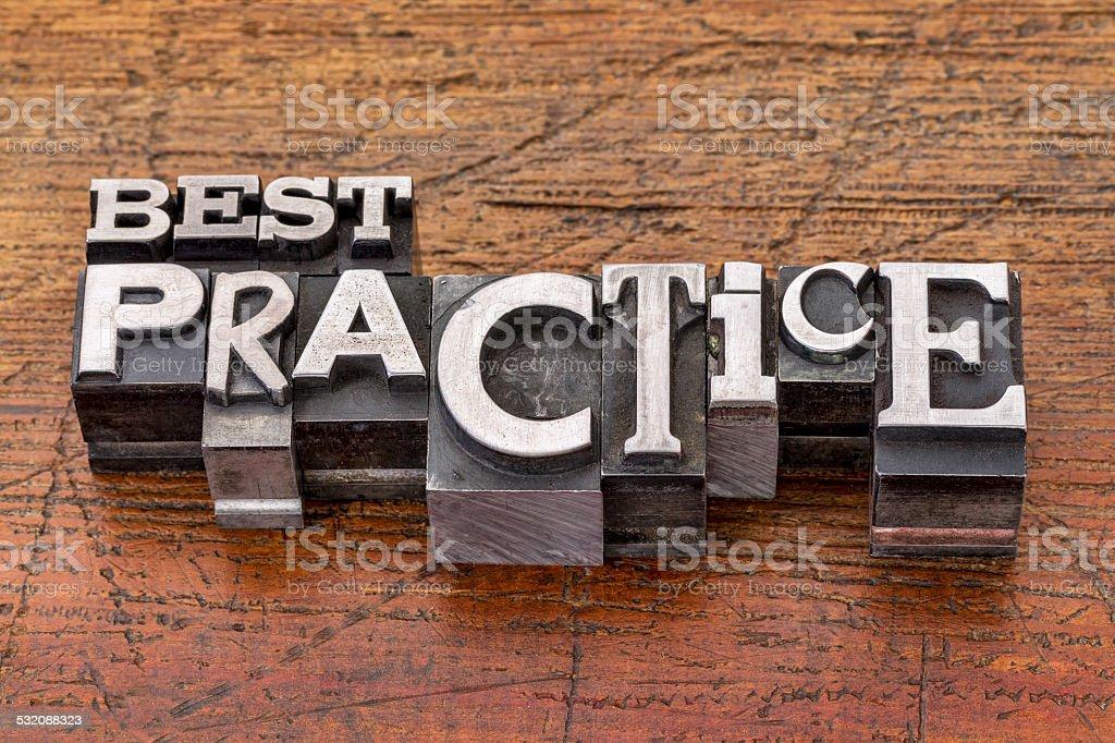 best practice in metal type stock photo