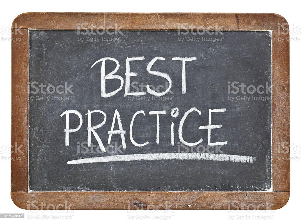 best practice on blackboard stock photo