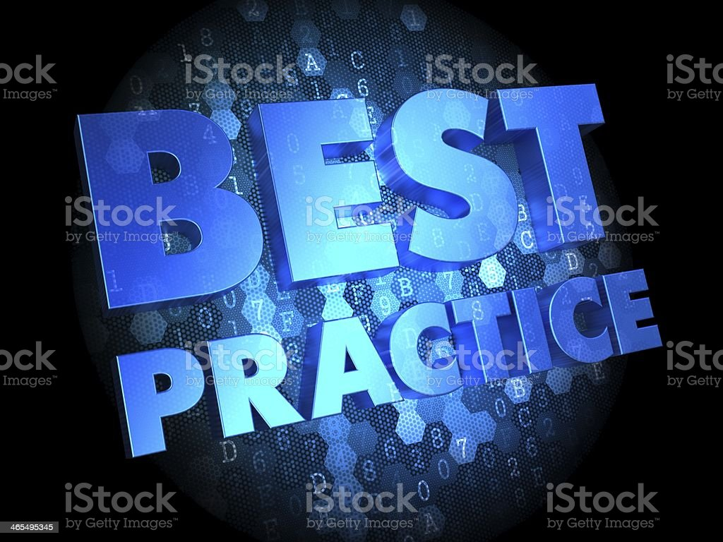 Best Practice on Dark Digital Background. stock photo