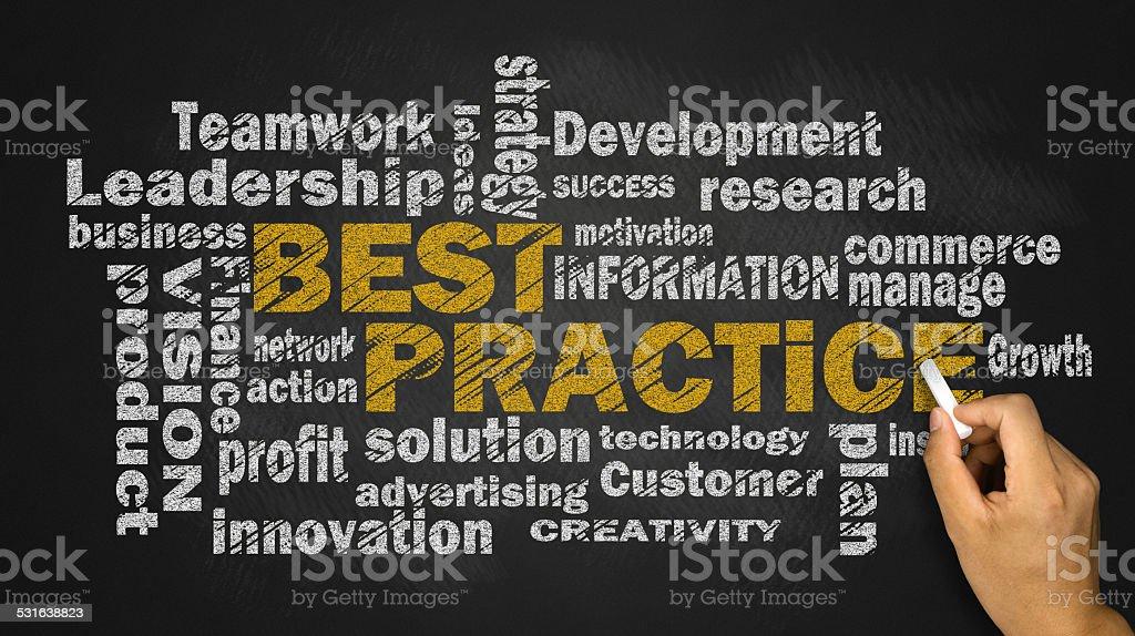 best practice word cloud stock photo