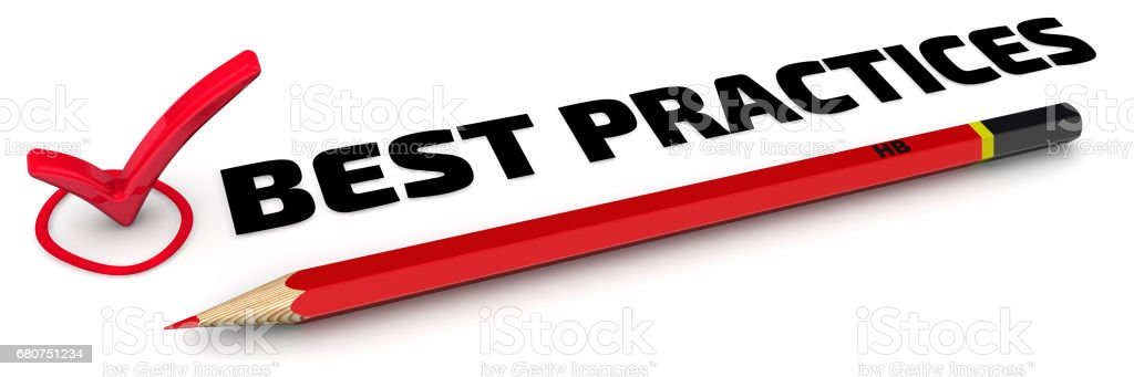 Best practices. The check mark stock photo