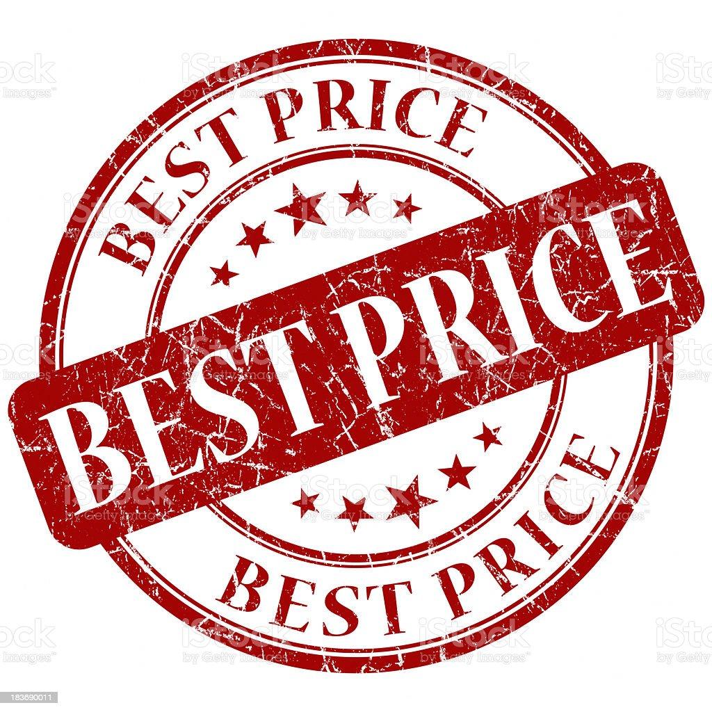 best price red stamp stock photo