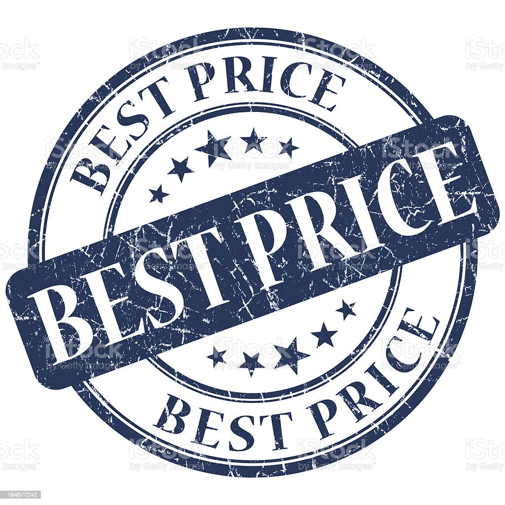 best price round blue stamp royalty-free stock photo