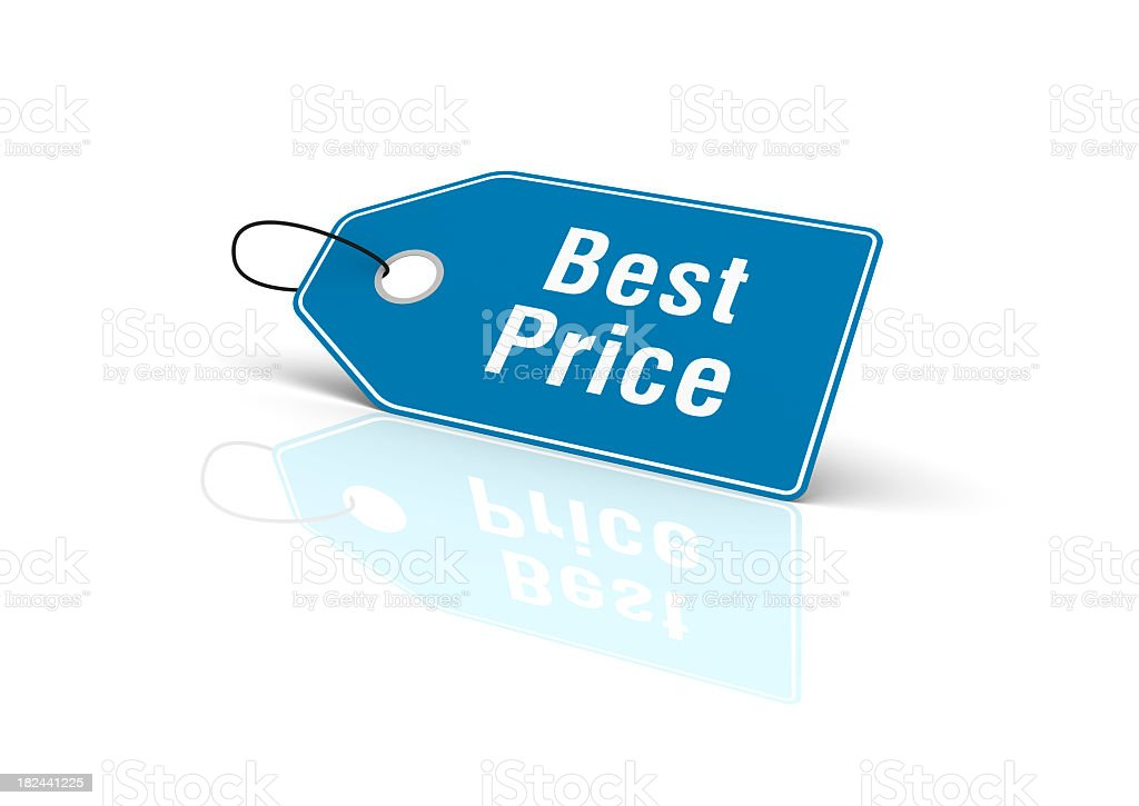 Best Price Shopping Tag royalty-free stock photo