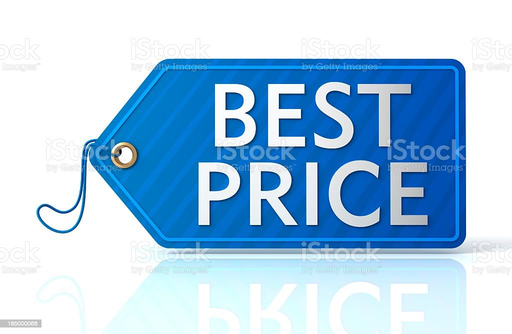 Best Price shopping tag stock photo