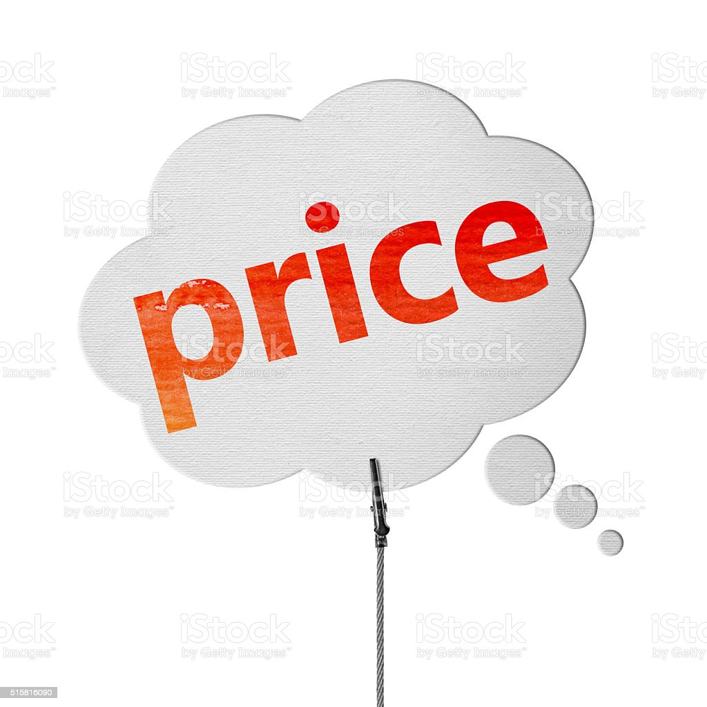 Best Price- Speech Bubbles (Clipping Path) stock photo