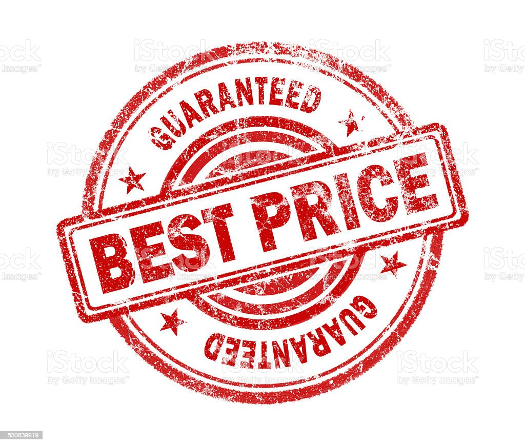 best price stamp on white background stock photo