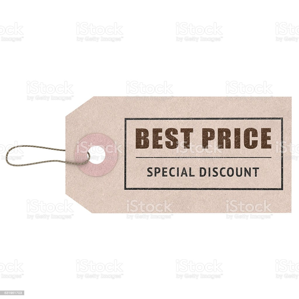 Best Price Tag stock photo