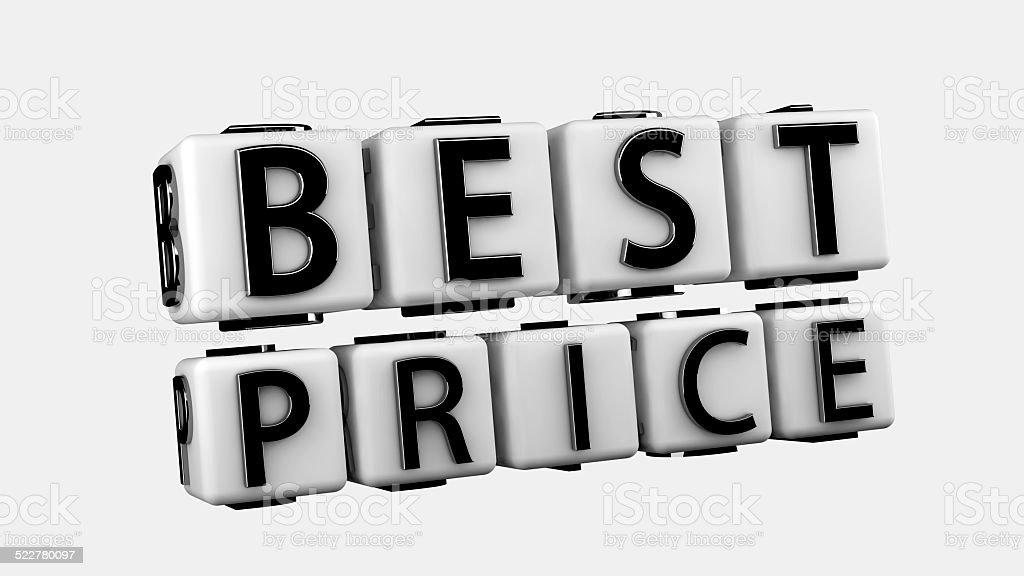 Best Price Text stock photo