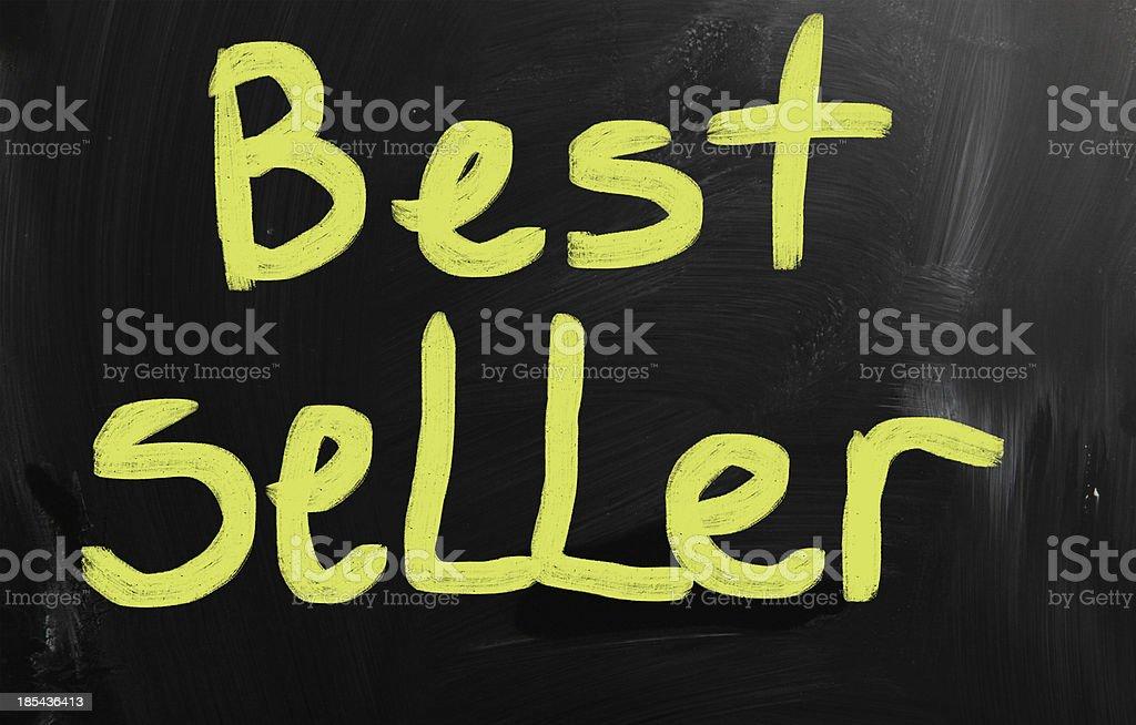 'Best seller' handwritten with white chalk on a blackboard royalty-free stock photo