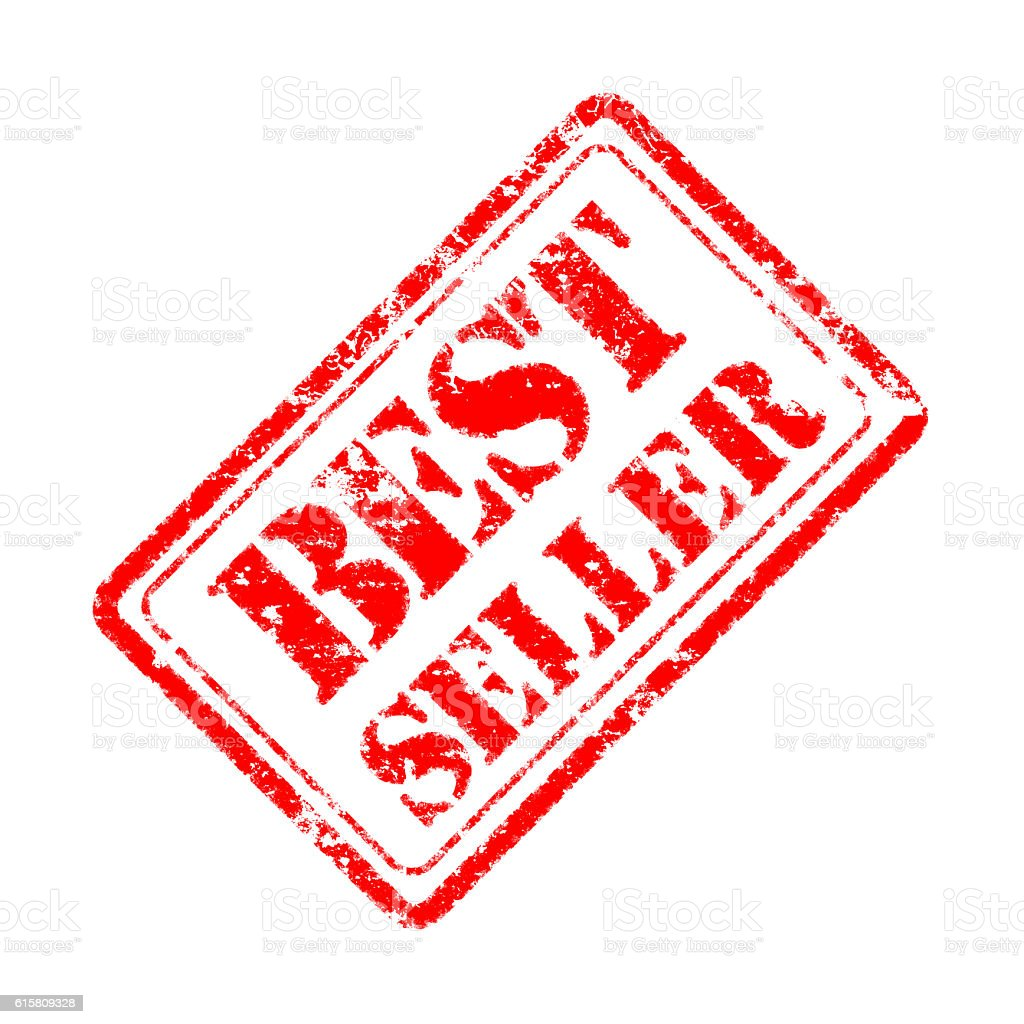 best seller rubber stamp stock photo