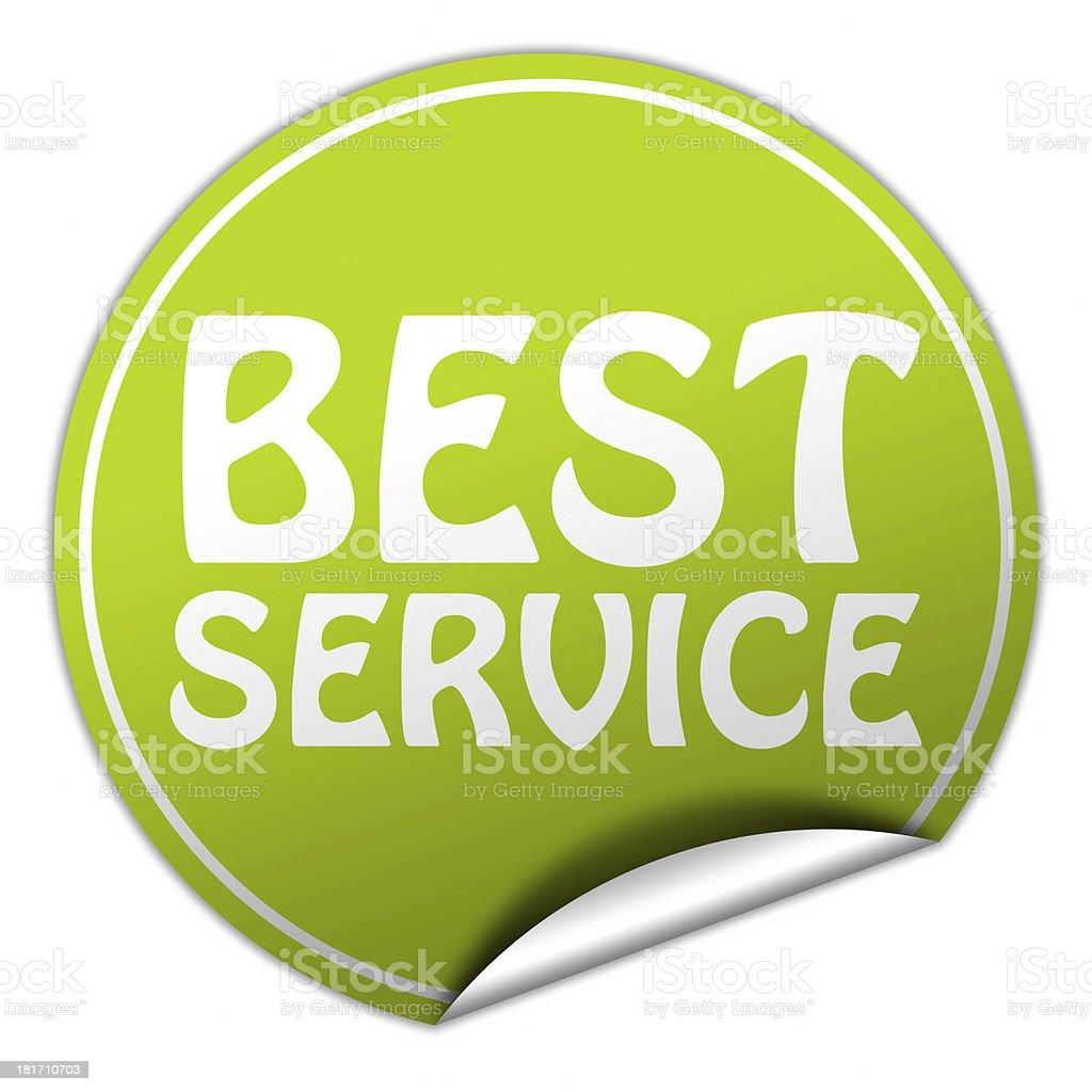 best service sticker royalty-free stock photo