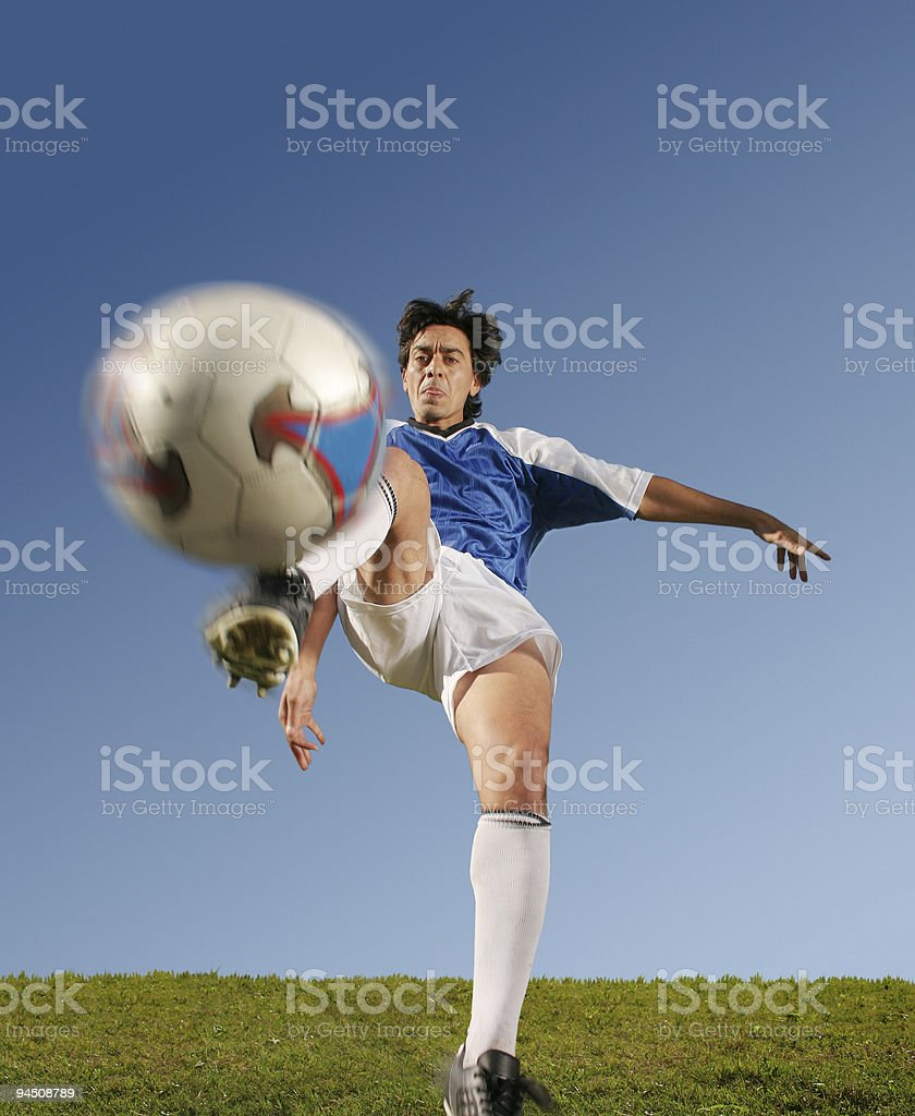 Best soccer player front 1 royalty-free stock photo