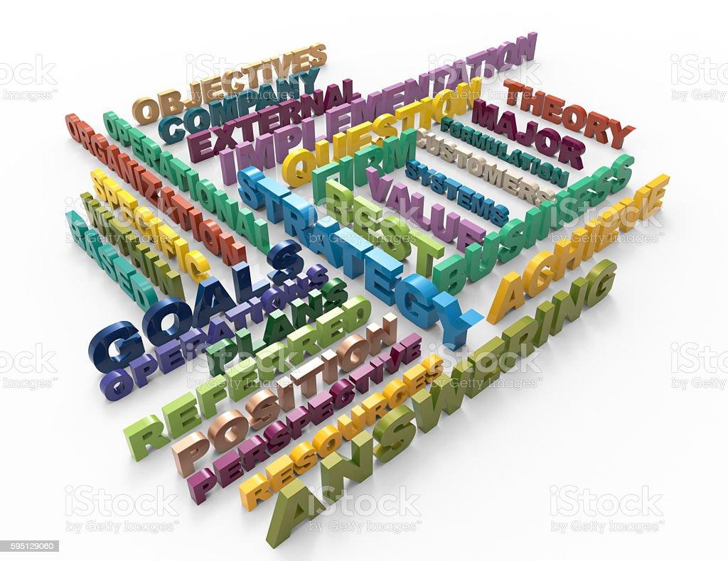 Best Strategy 3d crossword concept stock photo