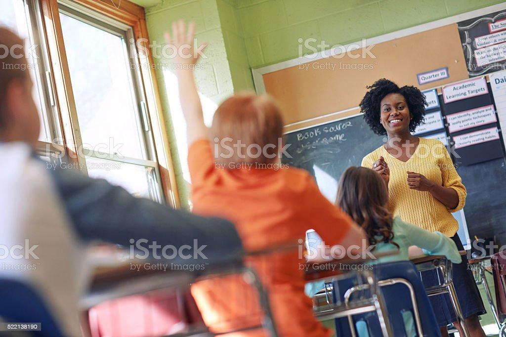 Best teachers teach from the heart not the book stock photo