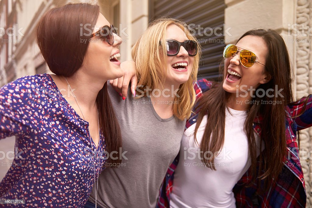 Best time? Only with my girls stock photo