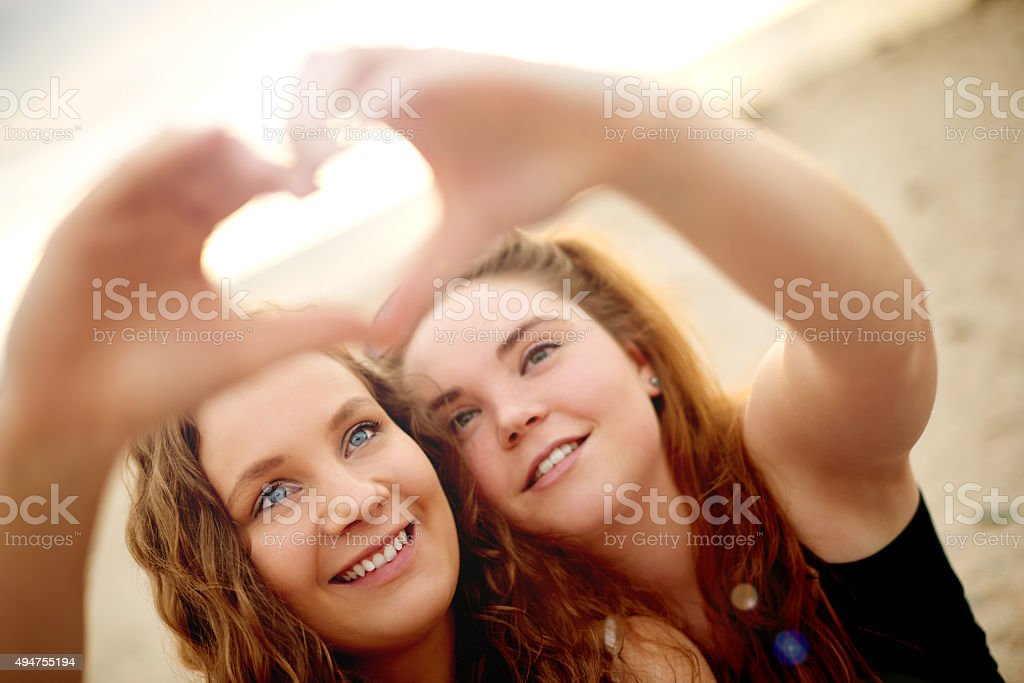 Bestie love…it's a special kind of love stock photo