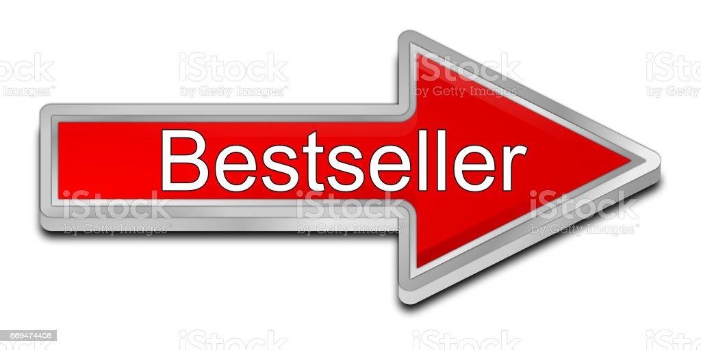 Bestseller arrow button - 3D illustration stock photo