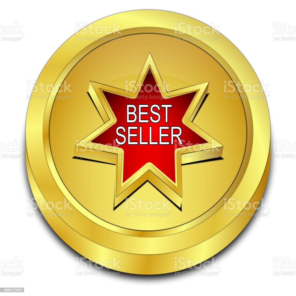 Bestseller button - 3D illustration stock photo