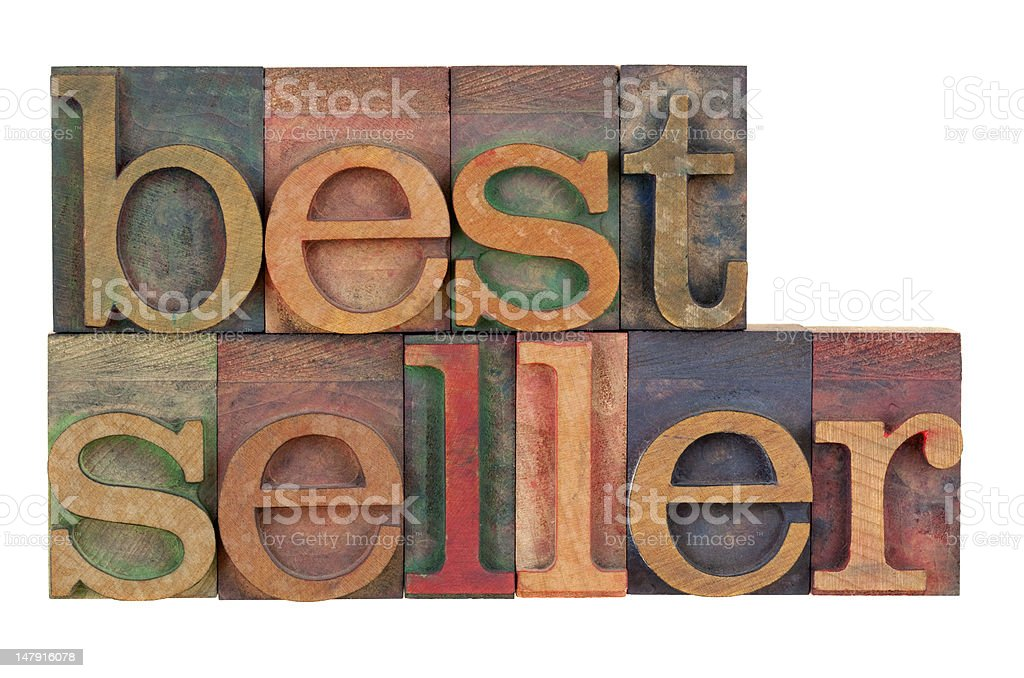 bestseller - wood type royalty-free stock photo