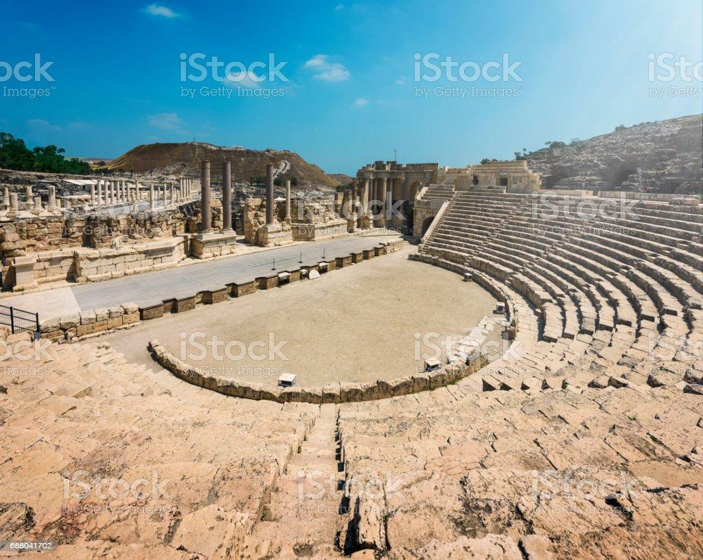 Bet Shean Ruins in Israel stock photo