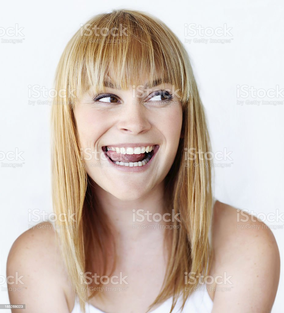I bet you don't know what I'm thinking... stock photo