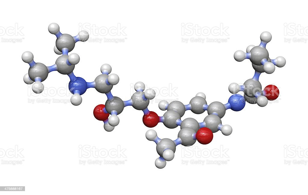 Beta Blocker Drug - Acebutolol stock photo