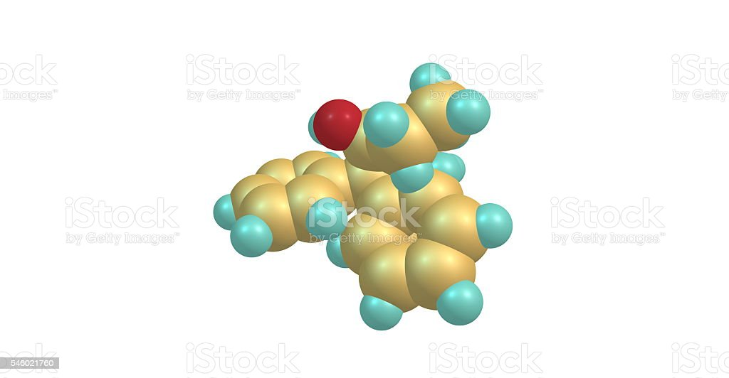 Betamethadol molecular structure isolated on white stock photo