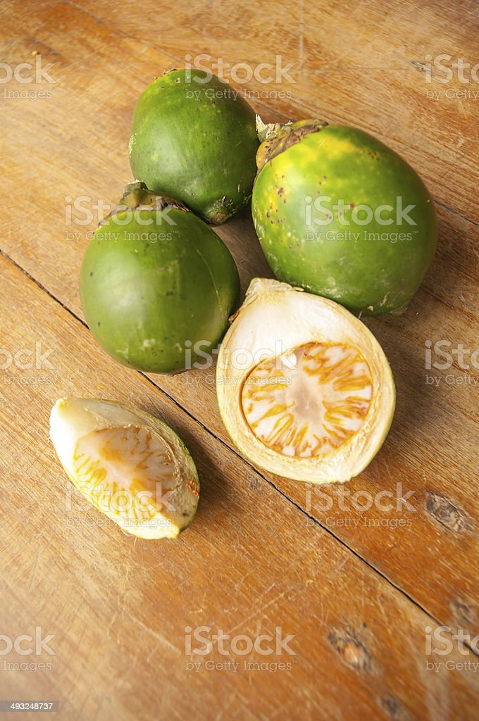 Betel palm,Areca catechu on wood royalty-free stock photo