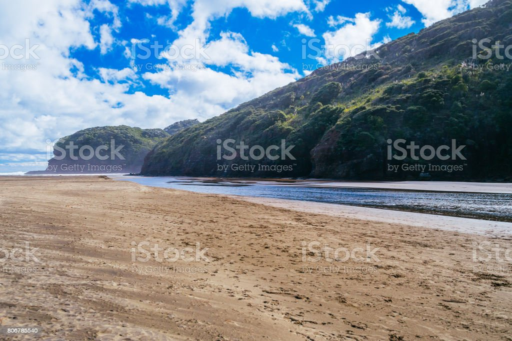 Bethells Beach, New Zealand stock photo
