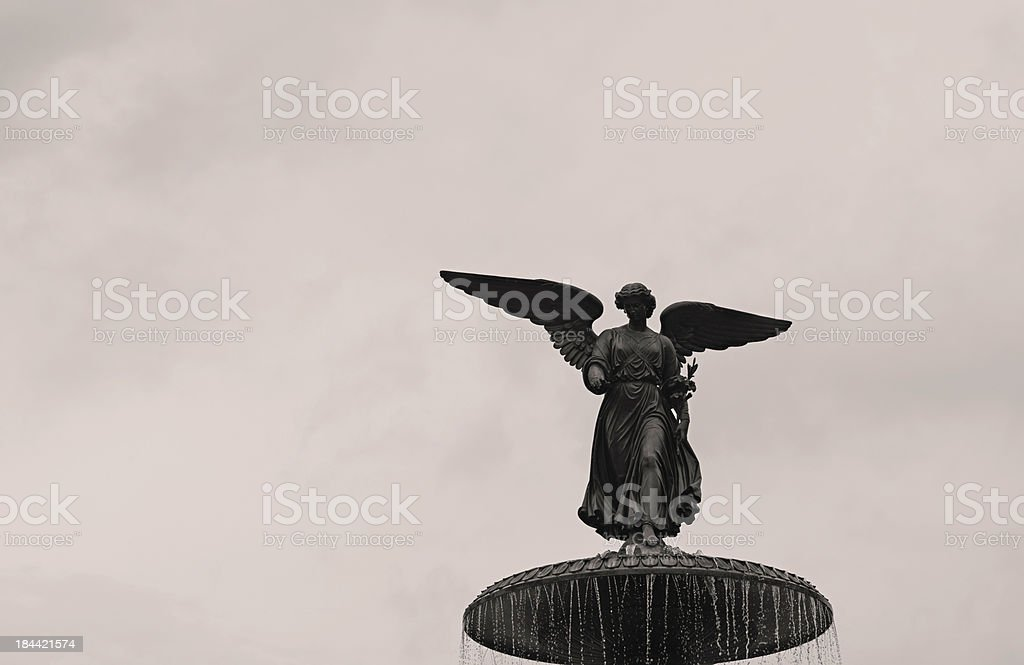 Bethesda Angel Fountain in Central Park, New York City stock photo