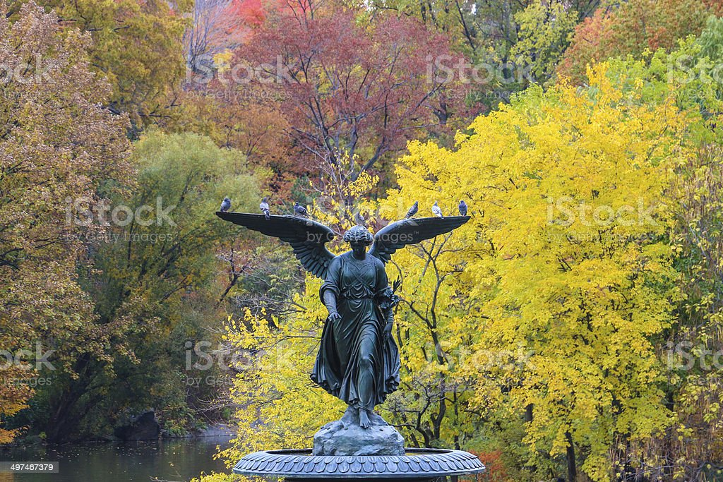 Bethesda Fountain in Central Park, New York City stock photo