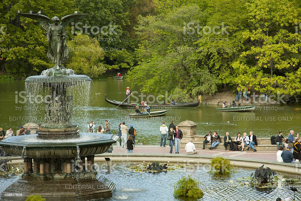 Bethesda Fountain in Central Park stock photo