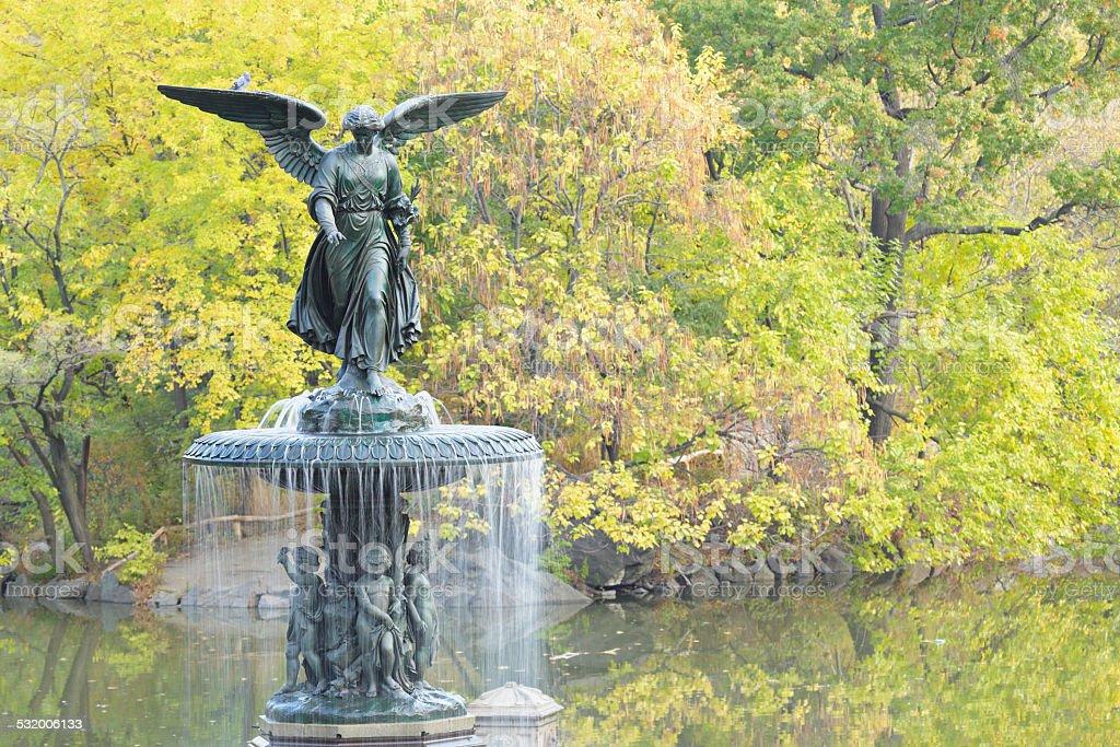 Bethesda Fountain - New York stock photo