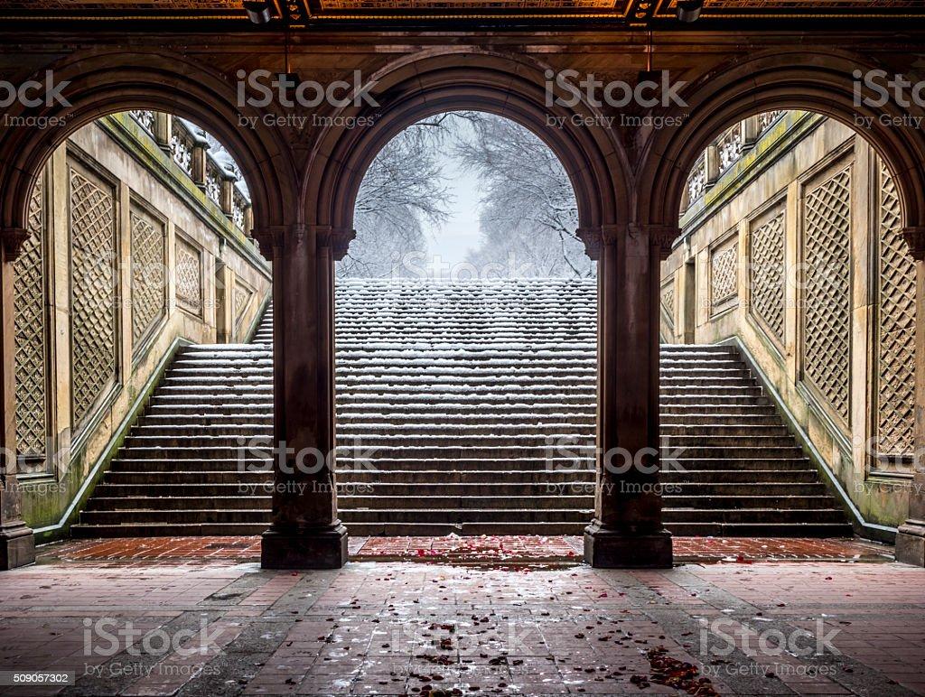 Bethesda Terrace Central Park, New York City stock photo