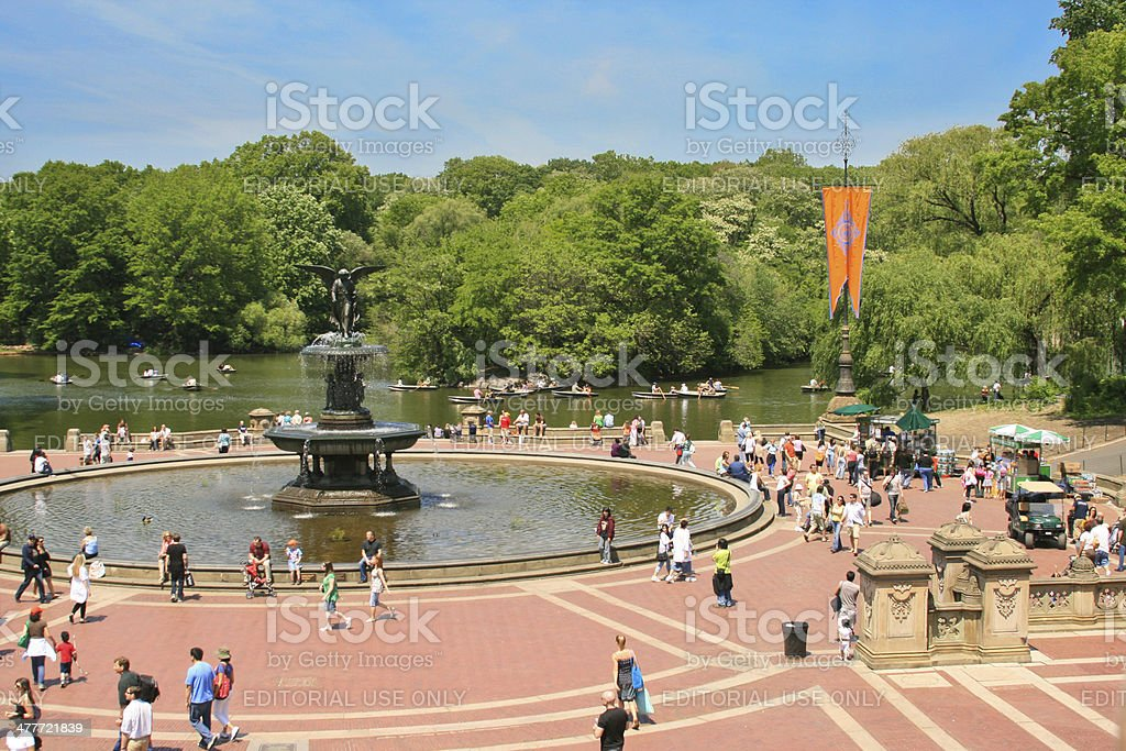 Bethesda Terrace in early spring, Central Park, New York City. stock photo