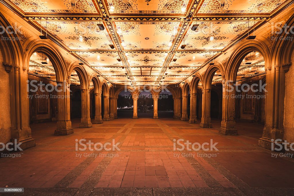 Bethesda Terrace stock photo