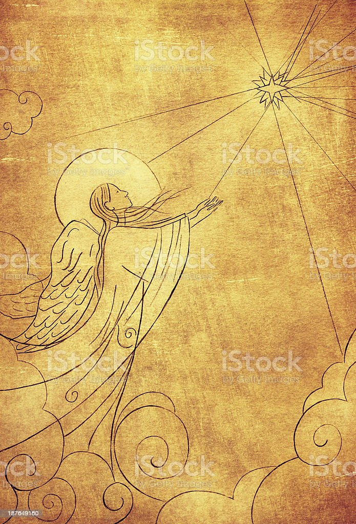Bethlehem Christmas Angel stock photo