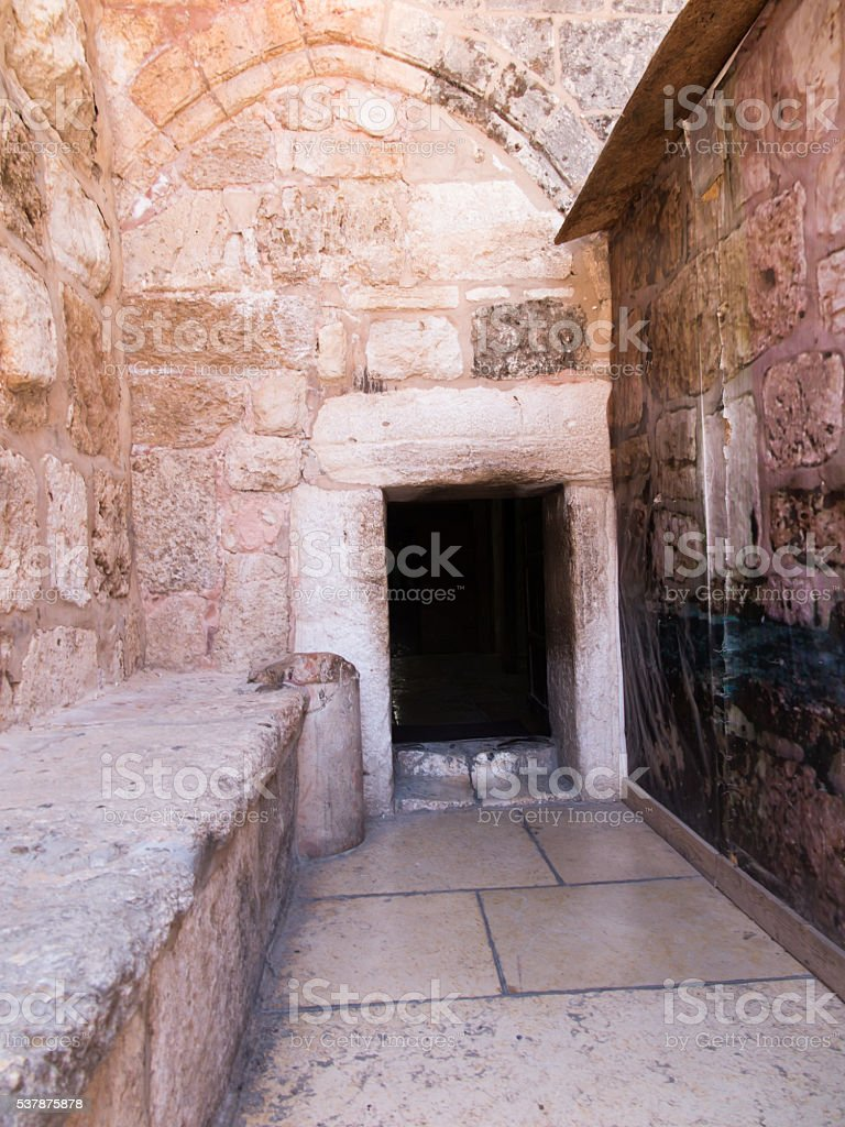 Bethlehem in the Palestinian Authority, the old Basilica of the stock photo