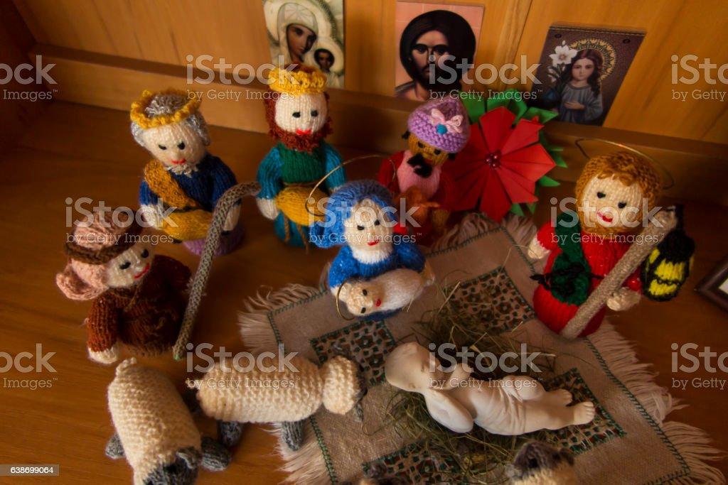 Bethlehem Nativity scene stock photo