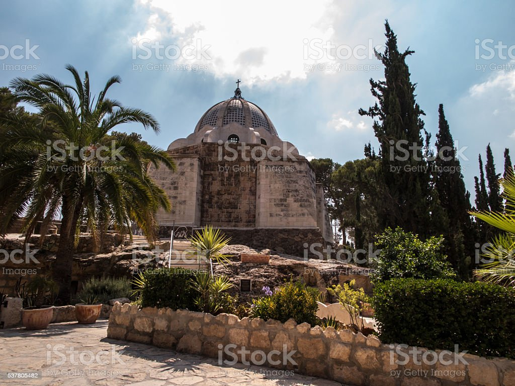 Bethlehem Shepherds Field Church. Palestine stock photo